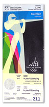 Билет на биатлон. Зимние олимпийские игры в Турине, 2006 год. Смотреть в новом окне в натуральную величину.